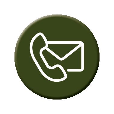 Picto contact vert avec un téléphone et une enveloppe