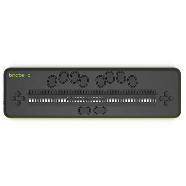 Braille display b.note for the blind 20 or 40 cells 8 points